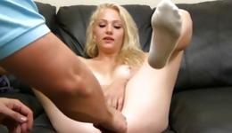 Blonde marvelous whore got her mouth, vagina and anal holes dick stuffed