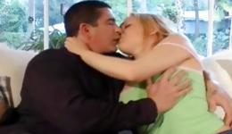 Teen babe is seduced by this dude making out with him really dirty
