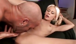 Ill-mannered bitch with blonde hair is getting her poked hard core