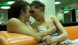 This naughty couple is showing off the tasty fine copulation