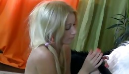 This magnificent blonde likes to get sexual pleasure from her hot panda