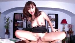 Asian sluttish whore is getting her tight vagina hole spurted by wild man