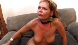 Hot babe is getting her pussy hole stretched out with a wide dick hard